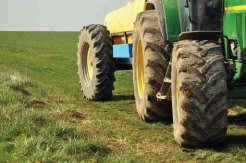 tires in field